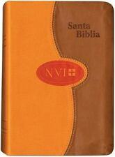 NVI Larger Print Bible - DuoTone Honey/Orange : NVI Biblia Compacta de Letra ...