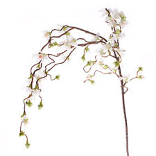 Artificial Cherry Blossom Branch Weeping 110cm/43 Inches White Spring Flowers