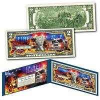 FIRE DEPARTMENT Emergency Response Agency Genuine U.S. $2 Bill - The Bravest
