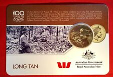 2016 Anzac To Afghanistan 25 Cent Australian Coin Carded Unc. Long Tan