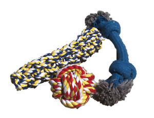 Paisley Paws Three Toy Heavy Duty Rope Puppy Dog Toy Pack