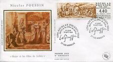 FRANCE FDC - 2896 1 NICOLAS POUSSIN - 10 Septembre 1994 - LUXE sur soie