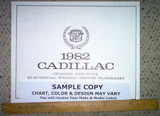 1982 Cadillac Deville and Brougham Body Wiring Diagrams Factory OEM GM