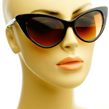 Womens Celebrity Tip Pointed Retro Vintage Fashion Cat Eye Sunglasses Tortoise