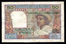 Madagascar 50 Francs Replacement 1969 P-61