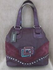 GUESS by Marciano VY323425 Subliminal Purple Tote Shopper Handbag Purse NWT