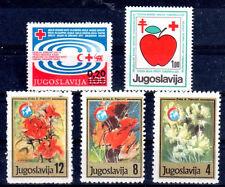 CROIX ROUGE SANTÉ Yougoslavie 5 val de 1978 1983 et 1988** RED CROSS ROTES KREUZ