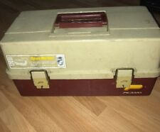 VINTAGE PLANO FISHING TACKLE BOX WITH ACCESSORIES # 1701 #1701