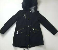 Bellivera Women's Faux Fur Hooded Winter Jacket Black Size XL