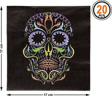 20 Serviettes Noires Carton Crane Décoration de table Halloween