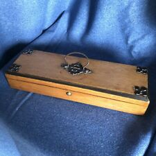 Antique Victorian Oak Wooden Box Gothic Style Useful Storage