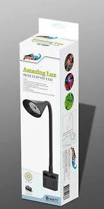 Moisture Resistant LED Aquarium Fish Tank Clip on Clamp Light FULL DAYLIGHT