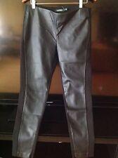 """Ralph Lauren Black Lauren Faux Leather Pants sz 12 -28""""inseam NWT $125.00"""