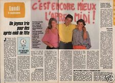 Coupure de presse Clipping 1985 Christophe Dechavanne (2 pages)