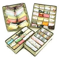 HUJI Set of 4 Foldable Drawer Dividers, Closet Organizers, Storage Boxes