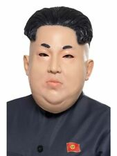 Mens Dictator Kim Jong Un Korean Leader Overhead Face Mask Fancy Dress Accessory