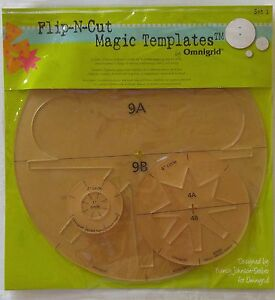 Omnigrid Quilting FLIP-N-CUT MAGIC TEMPLATES #1 Cutting Nancy Johnson-Srebro NIP