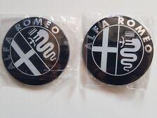 2 x Alfa Romeo Emblem Logo Schwarz/Weiß !!Standort DE!!