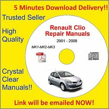 2001-2008 Renault Clio Workshop - Service Repair Manual Engine Body Petrol