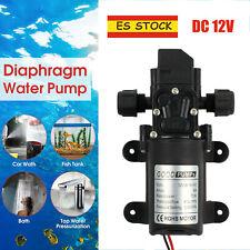 DC12V 6A 70W 6L/min bomba de agua alta presión de diafragma automático 130psi