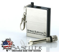 Forever Perma Match Survival Lighter Keychain Outdoor Camping US