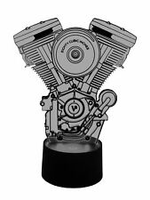originelle 3D LED-Lampe Harley Davidson Motor  für den Bikertreff und Bikerszene