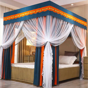 90% Anti-glar Lightproof  Mosquito-proof Bed Canopy Mosquito Net  Curtain+Post