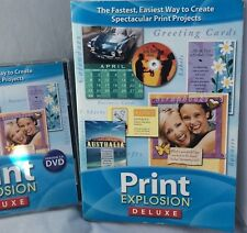 Print Explosion Deluxe 3.0 MAC DVD & Book design greeting cards, signs, projects