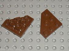 LEGO OldBrown Plate ref 2450 / Set 7316 3451 7111 7302 1416