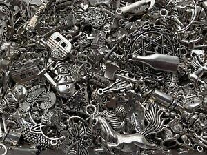 50 Pieces Mixed Tibetan Silver Charms Pendants Bundle Job Lot Wholesale