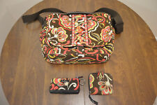 Vera Bradley Puccini Cross Body Laptop Messenger Bag Large Handbag + Bonus