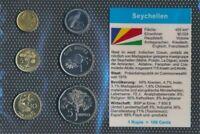 seychelles UNC coin set 2004-2007 1 cent until 5 Rupees (9030230