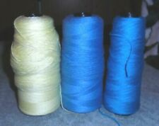 New listing Vintage Red Heart Luster Sheen Yarn Ming Blue,Yellow, Bluette Sport Weight-Extra