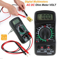 Digital LCD Multimeter Voltmeter Ammeter AC/DC/OHM Volt Current Tester Meter
