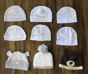 Newborn Baby Unisex Beanie Hat Bundle