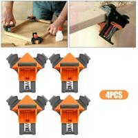 4 Stück Multifunktions-Winkelklemme Holzbearbeitung Eckklemmen-Fixierer 90°