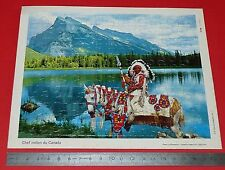 PUZZLE 80 PIECES COLLECTION CHEQUE CHIC LUSTUCRU ANNEES 1970 CANADA CHEF INDIEN