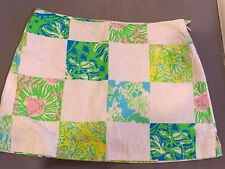 LILLY PULITZER Womens Skort, Size 2, Patchwork Quilt Multicolor Floral, EUC