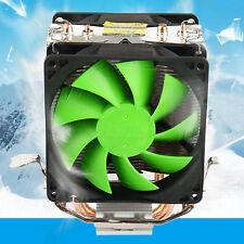 Silent Dual Fan CPU Cooler Heatsink For Intel LGA775/1156 AMD AM2+/AM3/AM4 Ryzen