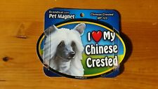 "Scandical I Love My Dog Laminated Car Pet Magnet 4"" x 6"" Chinese Crested"