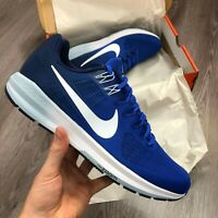 NIKE AIR ZOOM STRUCTURE 21 BLUE RUNNING TRAINERS SIZE UK9.5 US10.5 904695-402