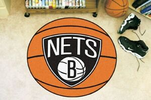 NBA Brooklyn Nets Basketball Mat Rug 26 Inch Diameter