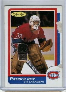 PATRICK ROY 1986-87 O-Pee-Chee ROOKIE #53 OPC RC Habs *See Scan for Condition*