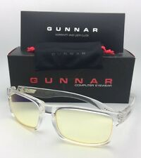 New GUNNAR Computer Glasses ENIGMA 58-18 Void Clear Frame w/ Amber Yellow Lenses