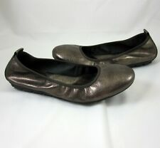 Born Shoes Size 11 Tami Ballet Flats Scrunch Slip On Bronze Leather