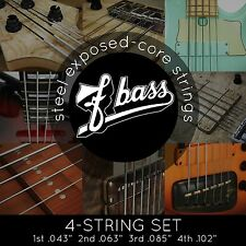 NEW FBass 4-String Sets Exposed Core Bass Strings