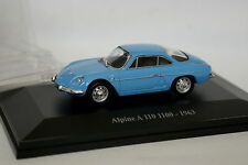 Eligor Presse 1/43 - Alpine Renault A110 1100 1963 Bleue