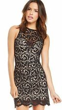 Ann Ferriday Lace sheer bodycon cocktail dress XS backless goth Anthropologie