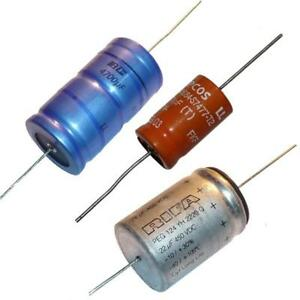 5Pc Axial Electrolytic Capacitor Samhwa 47uF 25v UK Stock dia 6.2mm L17mm  GT17