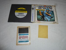 JAPAN IMPORT PC ENGINE HU CARD GAME COMPLETE CASE & W MANUAL TV SPORTS FOOTBALL